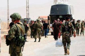 La evacuación de los rebeldes se hizo tras un acuerdo entre  las partes.