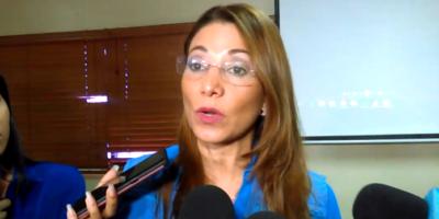 La representante de la Organización Panamericana de la Salud, doctora Alma Morales.