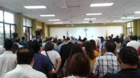 En la mañana de este domingo fue oficiada una misa.