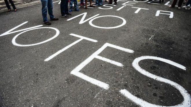 Parte de los venezolanos no irá a votar este domingo por no estar de acuerdo con el sistema.