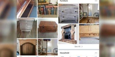 Muchas personas venden sus muebles a través de Facebook Marketplace.