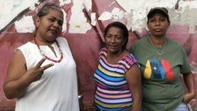 Las mujeres de la comuna Rogelio Castillo Gamarra están dispuestas a votar por Nicolás Maduro. El domingo y siempre.