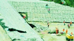 La presa de Montegrande se levanta en Barahona. archivo