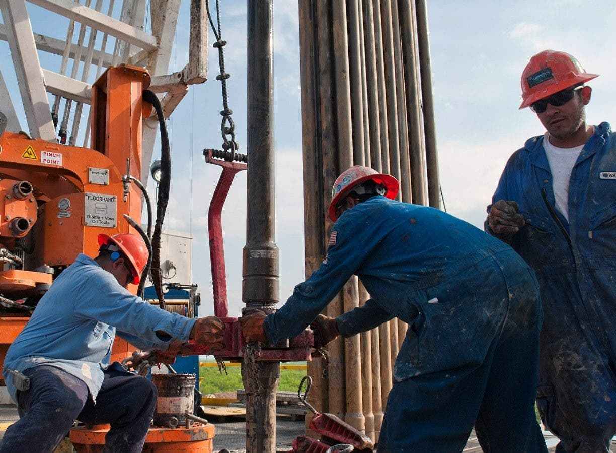 Operations At An Orion Drilling Co. Oil Platform
