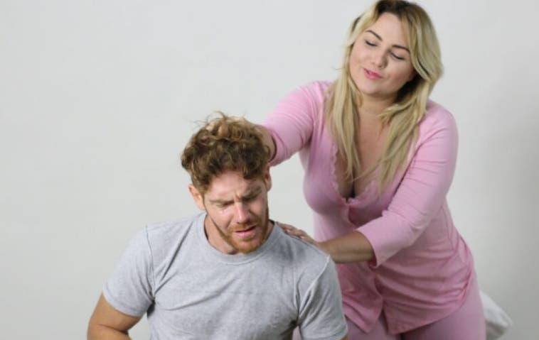 Los actores  Katyuska Licairac y Diego Vicos.  Archivo
