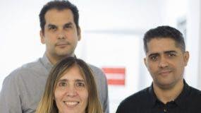Freddy Jana, Claudia Pou y Nelson González.