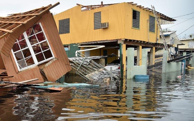 El  huracán    arrasó la isla en septiembre de 2017.  AP