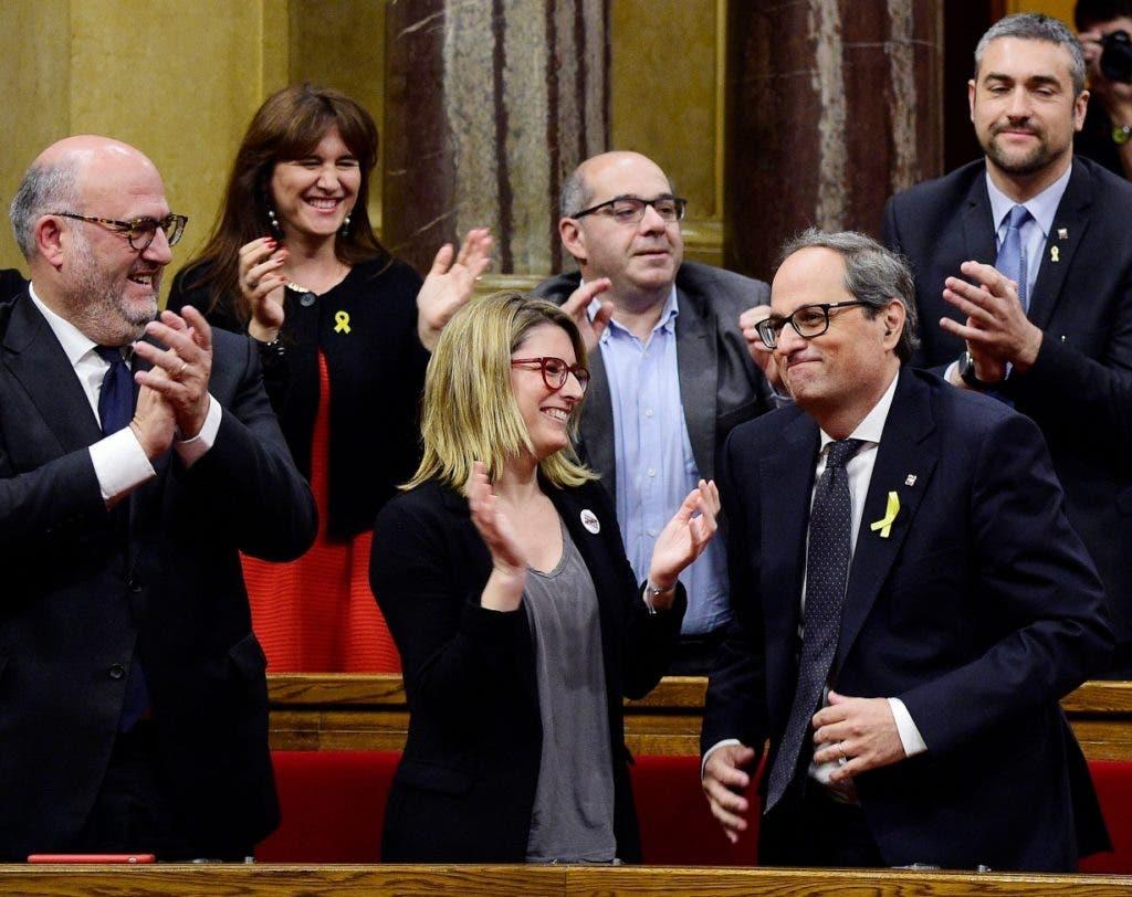 Quim Torra podría encabezar un periodo gubernamental efímero en Cataluña.  Ap