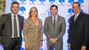 Sergio Calleja, Patricia León, Mark Kelly y José Ramírez, en la conferencia.