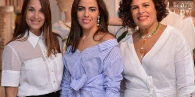 Claudia Veras, Nicole Imbert Schad y Jenny Polanco.