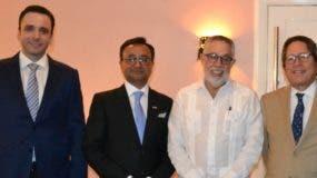 Antonio Lama, Dharmendra Basita, Campos de Moya y   Fernando González Nicolás.
