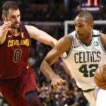 Al Horford, principal figura de los Celtics de Boston, tuvo  destacada actuación en el primer juego contra Cleveland.  AP