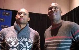 Al Horford junto a su padre, el ex jugador NBA Tito Horford. AP