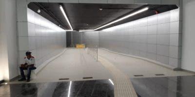 Túnel que conectará usuarios del Teleférico con Metro.Externa