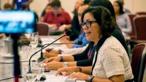 Griselda Colina, representante del Observatorio Global de Communicación y Democracia, durante la reunión de la CIDH en Santo Domingo.