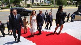La reina Letizia llegó anoche al país.