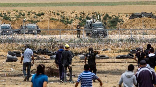 En los últimos días se vive una ola de protestas entre soldados israelíes y manifestantes palestinos en la frontera de Gaza.BBC