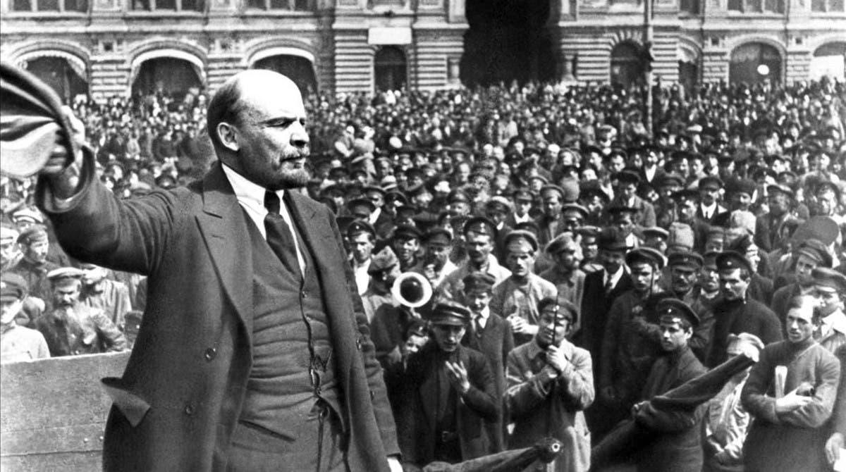 Vladimir Lenin, líder de la Revolución Bolchevique de 1917.