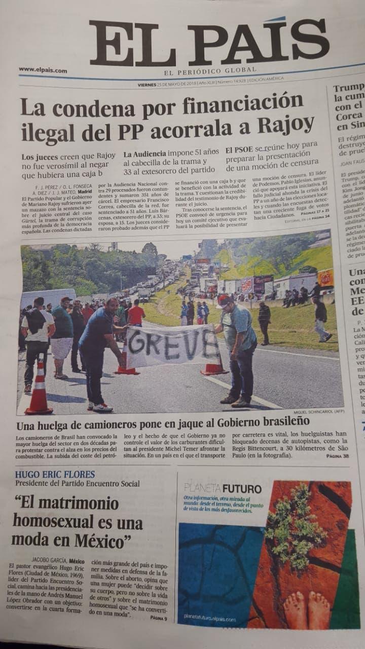 Edición impresa de El País dejará de circular en RD a partir del próximo jueves
