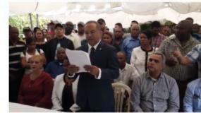 El diputado Santo Ramírez, presidente provincial del PRD en Peravia, renuncia de ese partido.