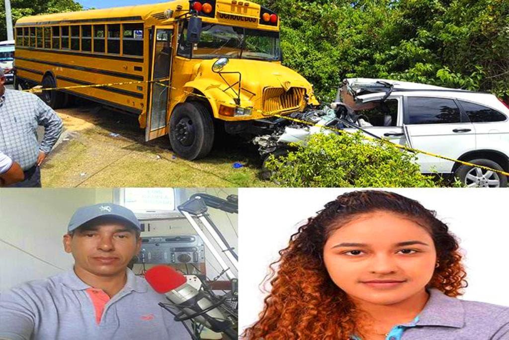 Los fallecidos son el comunicador Buenaventura Arias (Nino) y su hijastra Jazmín Rodríguez de 18 años de edad. Foto: Antonio Heredia.