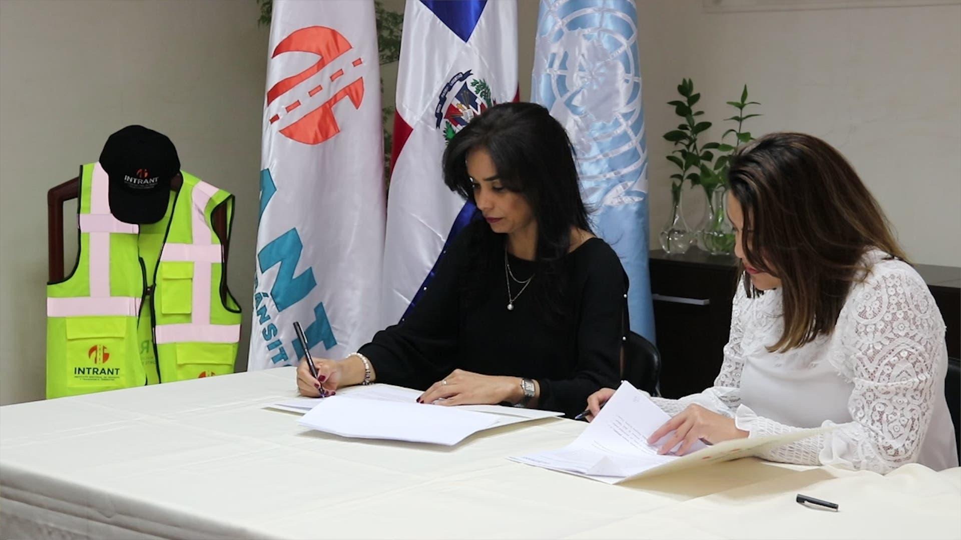Intrant firma convenio con Unitar para desarrollar planes de educación y Seguridad Vial