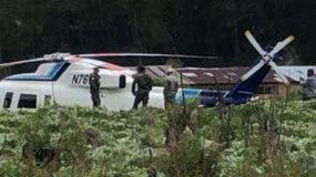 El helicóptero se precipitó a escasos minutos de levantar el vuelo. Foto: Frarman García.
