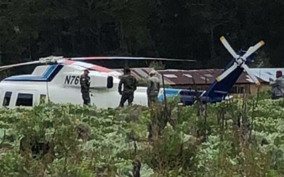 Cae helicóptero en que viajaba ministro de Medio Ambiente; ocupantes salen ilesos