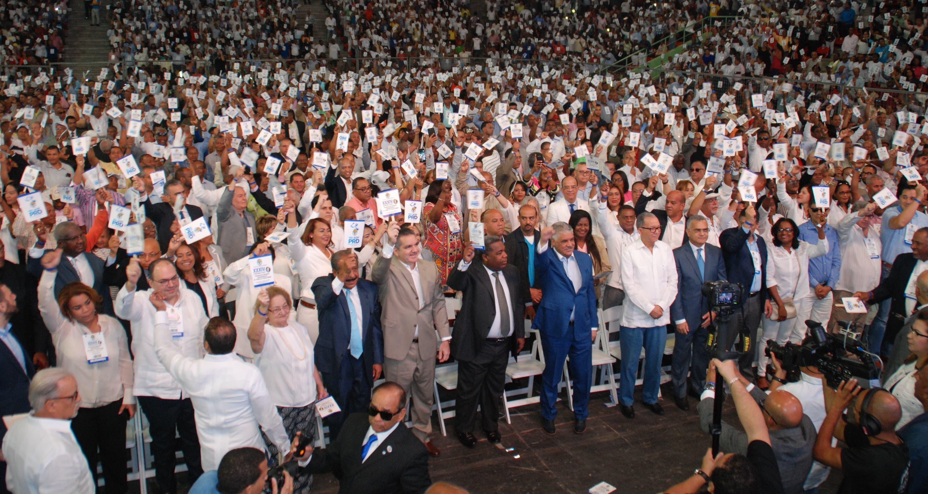 La convención del PRD fue celebrada el 3 diciembre del 2017 .
