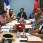 Miembros de la Comisión Organizadora de la Asamblea Nacional Ordinaria del Partido Reformista Social Cristiano (PRSC).