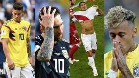 Mientras Argentina y Brasil no pudieron pasar del empate, Colombia y Perú cayeron en sus partidos.