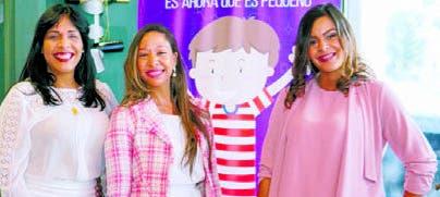 Eileen Mauricio, Gisselle Fernández y  Delis Reynoso.