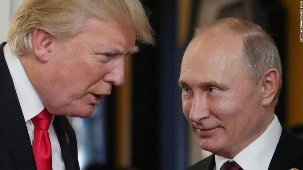 Vladimir Putin y su colega estadounidense Donald Trump