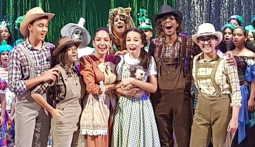"""Escenas del montaje """"El Mago de Oz"""" de la AFA."""