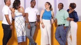 Rocío Salcedo junto a parte de los talentos que estarán en los tres programas televisivos de su compañía.  Archivo