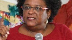 Mia Mottley, primera ministra de Barbados.aP