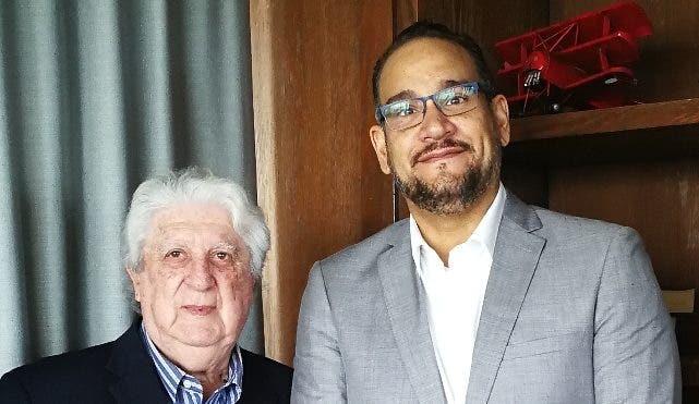 Elías Hofman, presidente de Exim, y Luis Molina, presidente de Patín Bigote.
