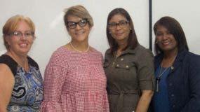 María de las Nieves Fals, Anitza Gutiérrez,  Andrea Cuevas y  Cesarina Polanco.