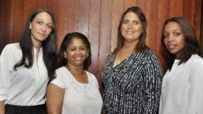 Julissa Abreu, Indiana Vásquez, Maribel Almonte y Érica Cruz.