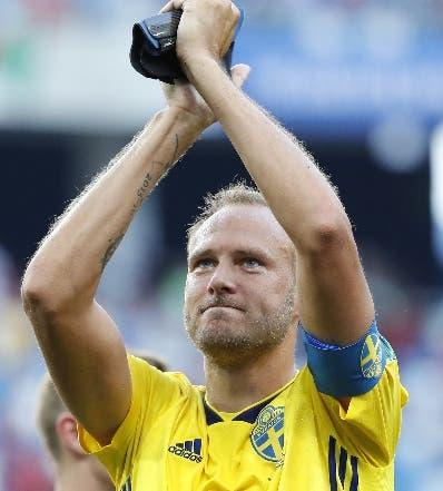 Andreas Granqvist, fue el héroe de triunfo de Suecia. AP