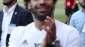 El egipcio Mohamed Salah, después de las prácticas. AP