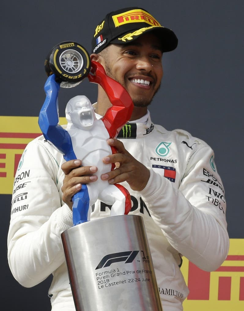 Lewis Hamilton gana  el GP  F1 de Francia