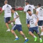 La selección argentina mientras realiza entrenamientos con miras al Mundial de Rusia.