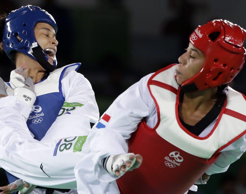 Katherine Rodríguez, derecha, durante una competencia internacional.