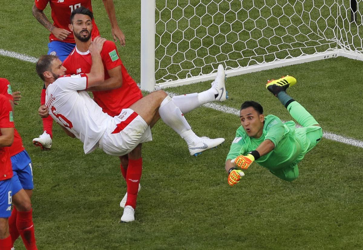 Kolarov y Serbia fulminan a Costa Rica en Mundial de Rusia