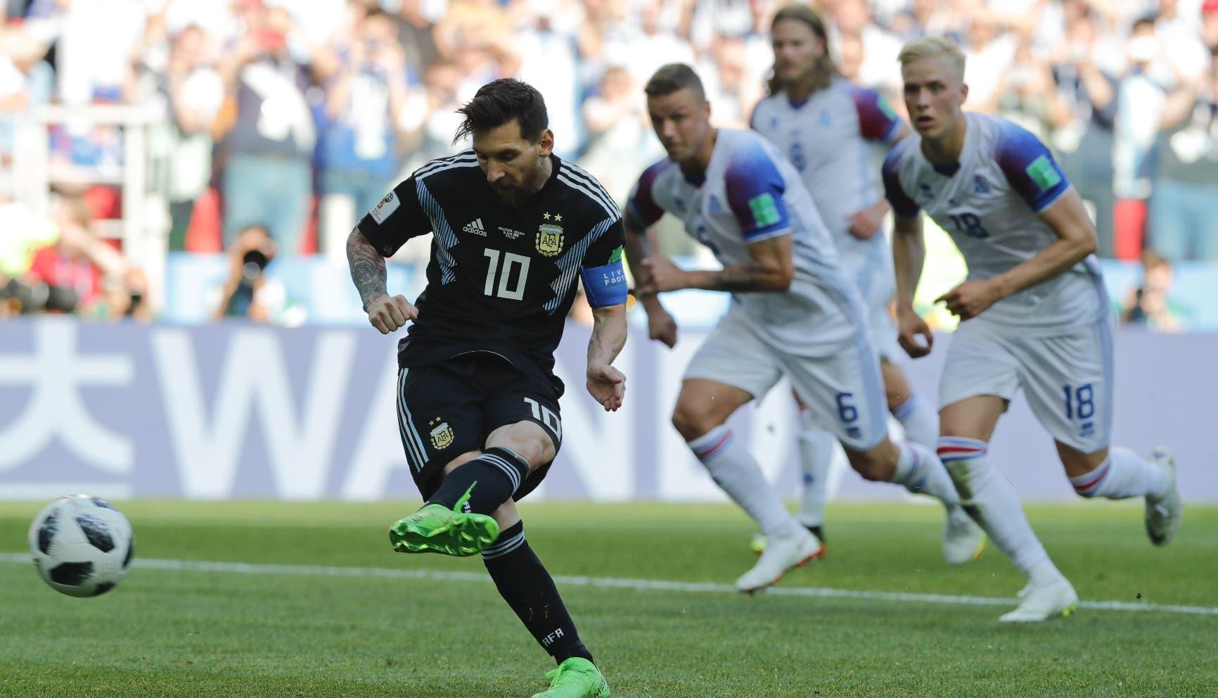 Messi falla un penalti y  Argentina empata 1-1 ante Islandia