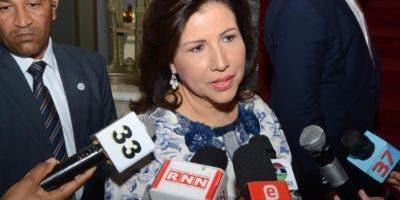 La vicepresidenta Margarita Cedeño de Fernández