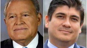 Presidente de El Salvador, Salvador Sánchez y de Costa Rica, Carlos Andrés Alvarado Quesada.