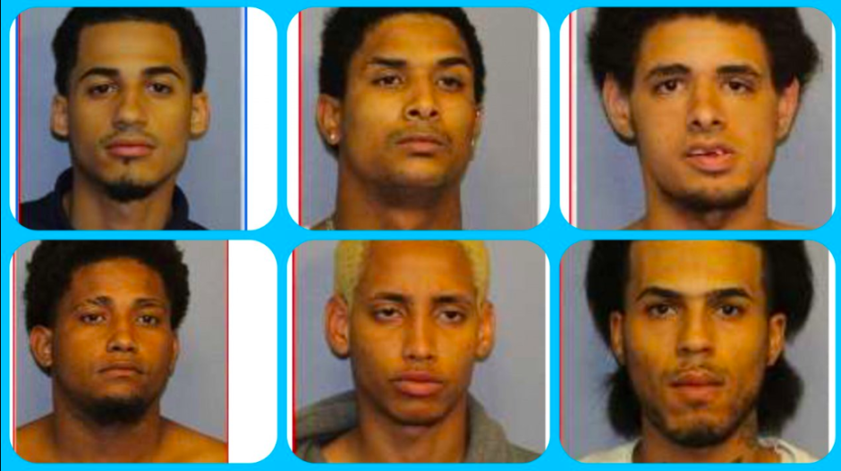 Seis de los siete presuntos asesinos de Lesandro Guzmán-Feliz.