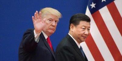 Los presidentes de EE.UU., Donald Trump (izqda.), y de China, Xi Jinping , en Pekín.